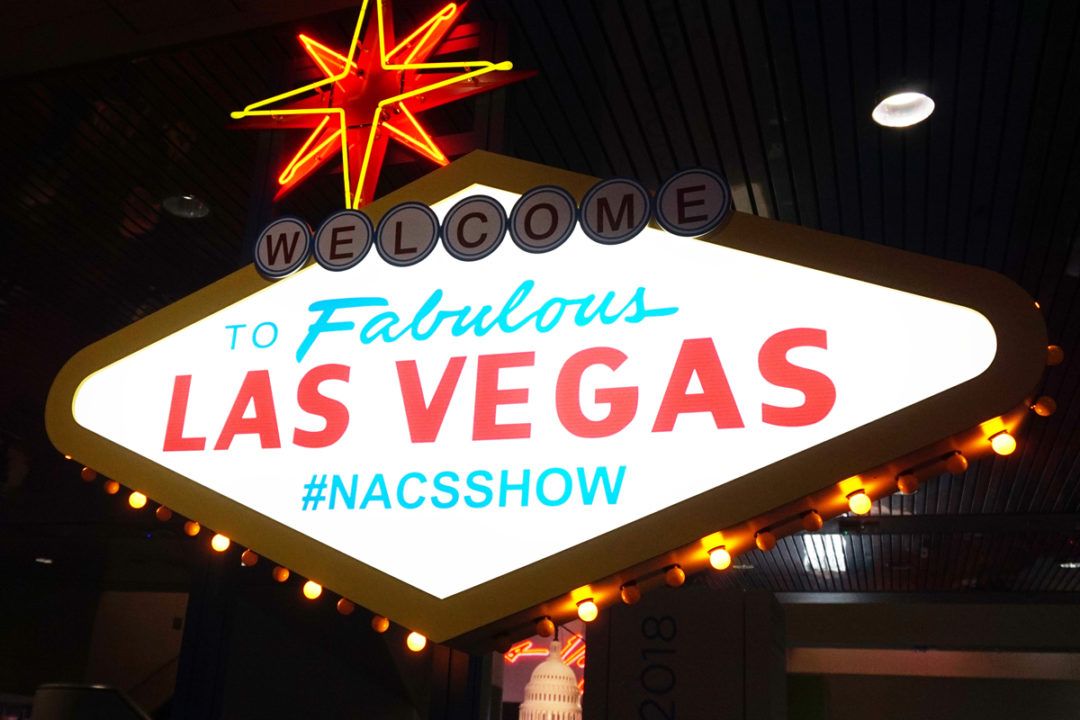 NACS Show sign