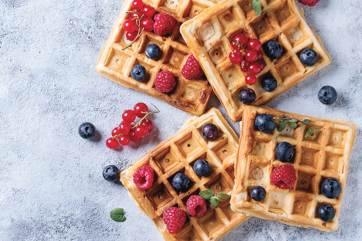 Waffles made with sunflower lecithin