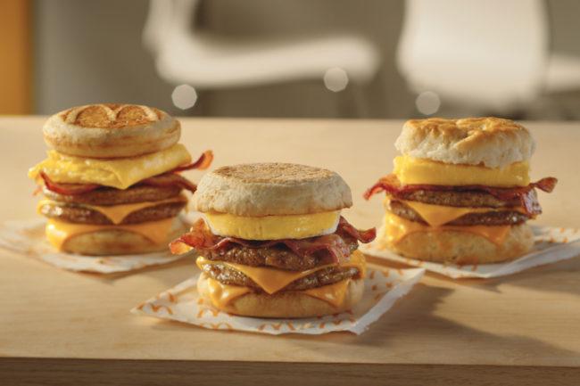 McDonald's Triple Stacks breakfast sandwiches