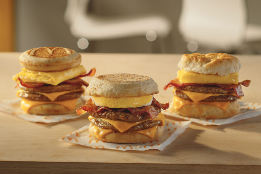 McDonald's Triple Stacks breakfast sandwiches