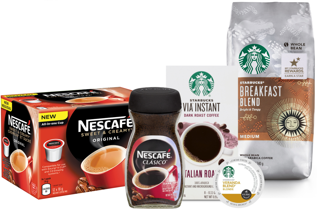 Nestle Starbucks coffee