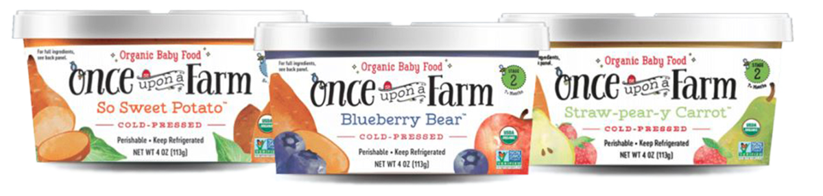 Once Upon a Farm baby food cups