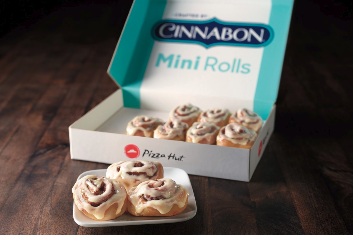 Pizza Hut Cinnabon mini rolls