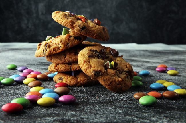 Rainbow chip cookies