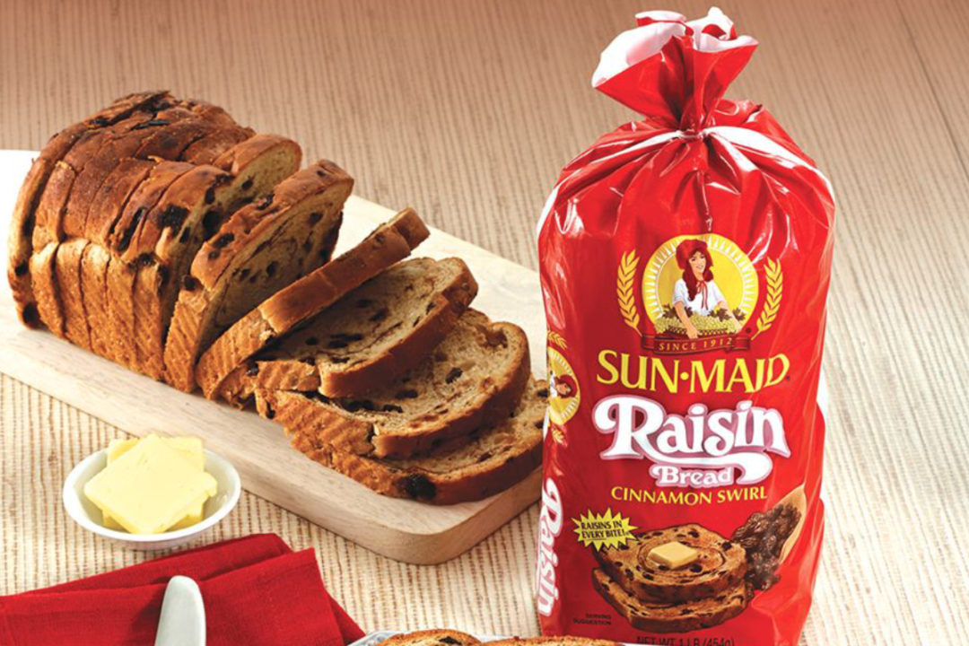 Sun-Maid raisin bread, Flowers Foods