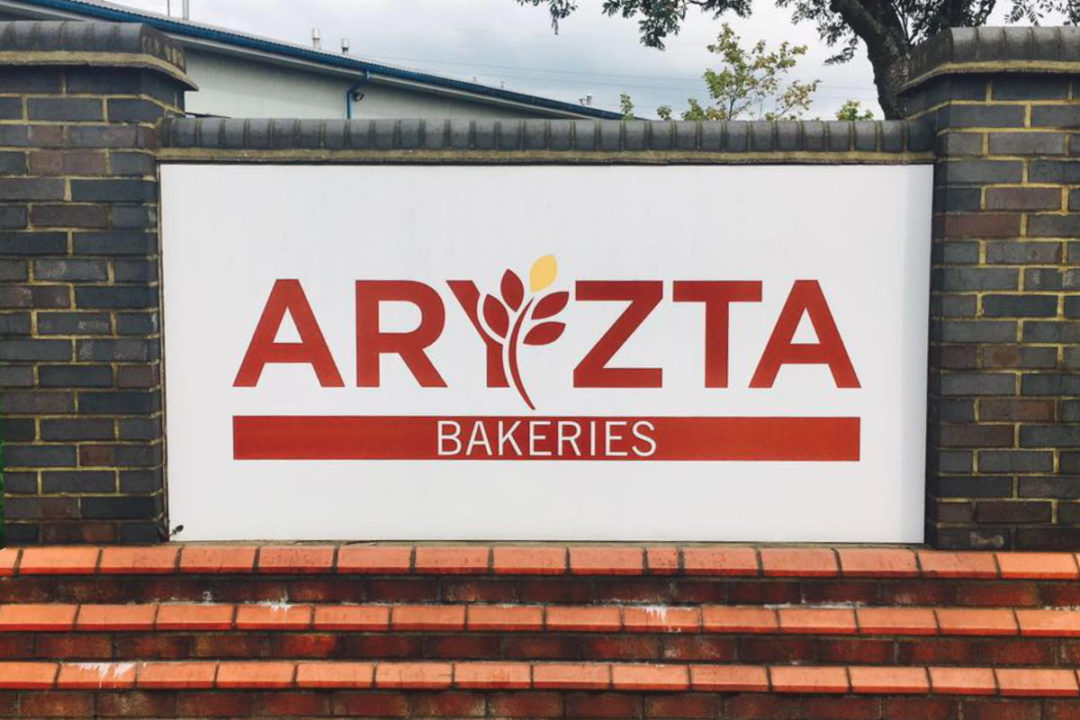 Aryzta sign