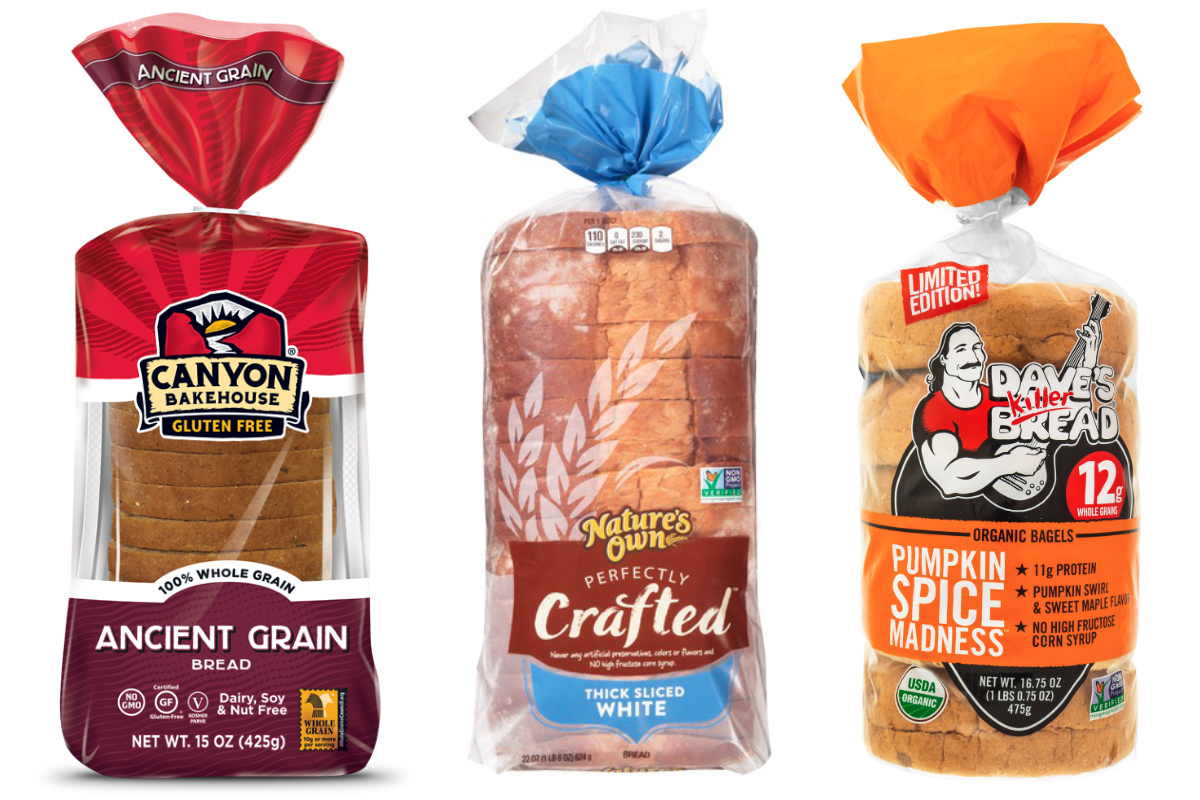 Flowers Foods brands - Canyon Bakehouse, Natures Own, Daves Killer Bread