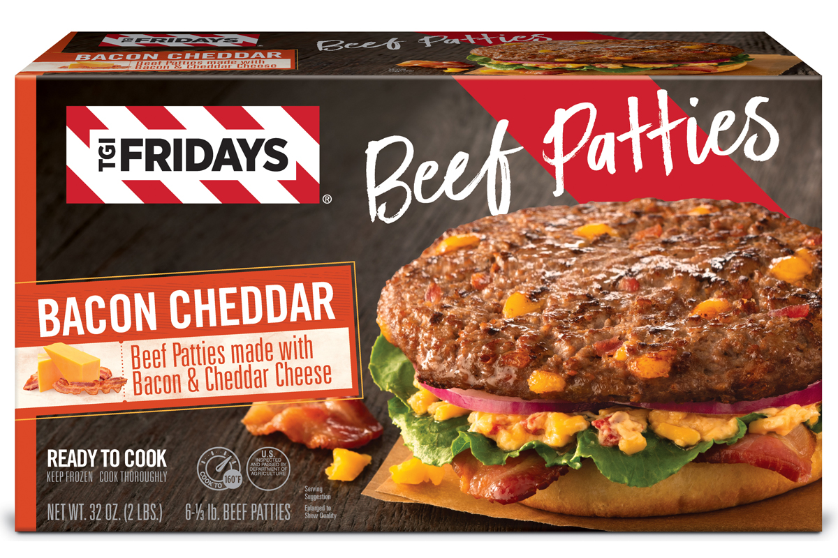 Cargill TGI Fridays retail frozen beef patties