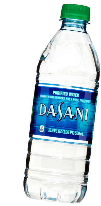 Dasani water bottle