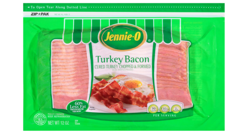 Jennie-O Turkey Store turkey bacon, Hormel