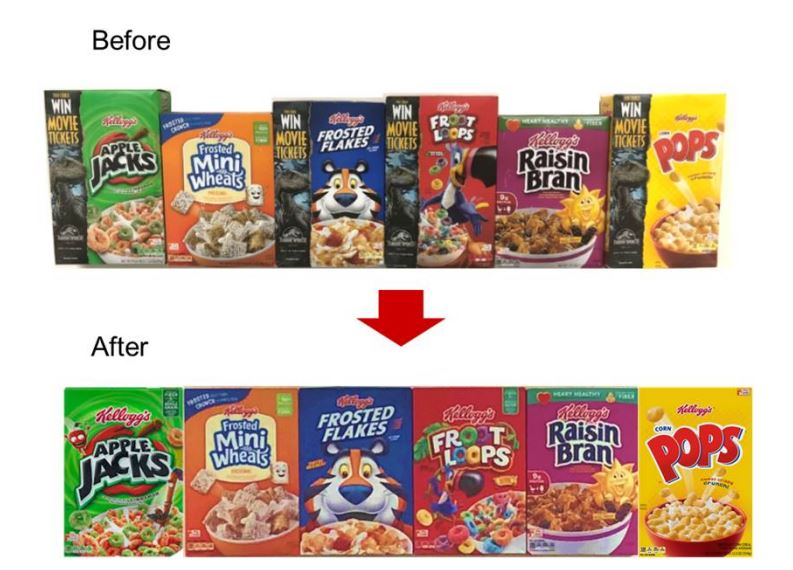 Kellogg cereal aisle simplified