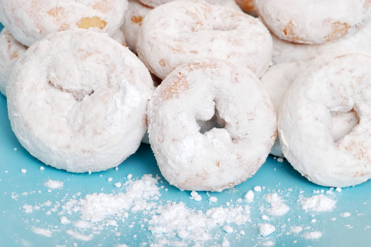 Mini powdered donuts
