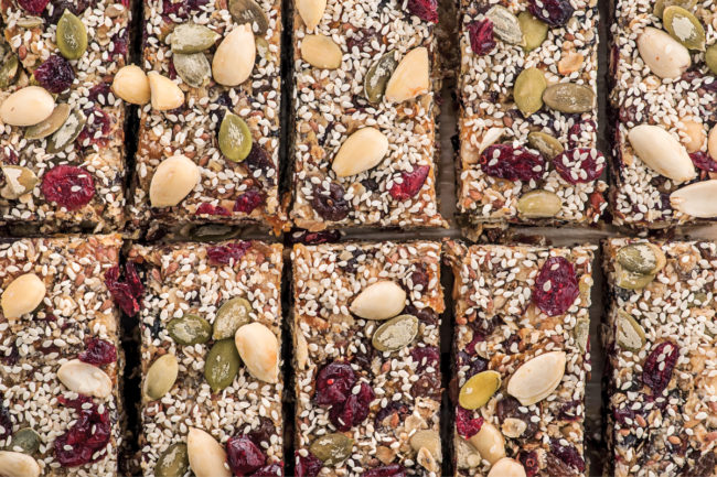 Nut and seed bars