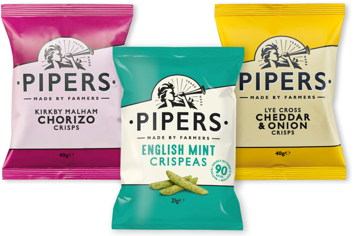 Pipers Crisps and Crispeas