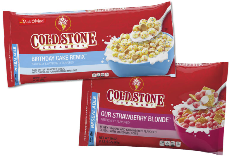 Post Cold Stone Creamery cereal