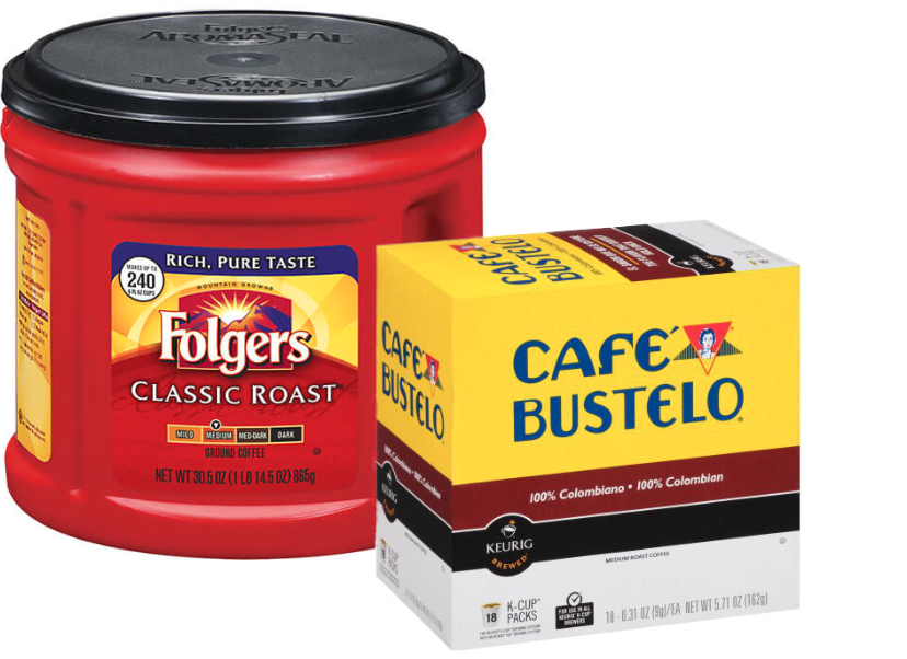 Folgers and Cafe Bustelo coffee, Smucker