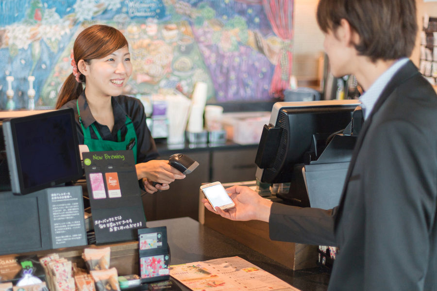 Starbucks Japan mobile order and pay
