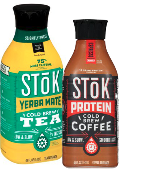 Stok cold-brew coffee with protein and yerba mate, Danone