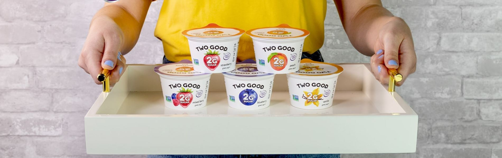 Two Good Yogurt tray, Danone