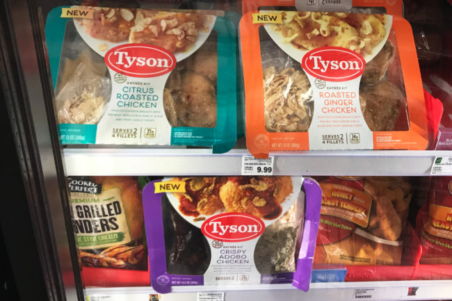 Tyson entree kits at Kroger