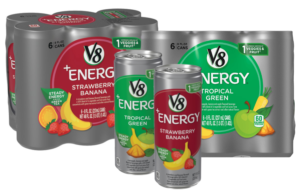 V8+Energy Strawberry Banana and Tropical Greens, Campbell Soup Co.