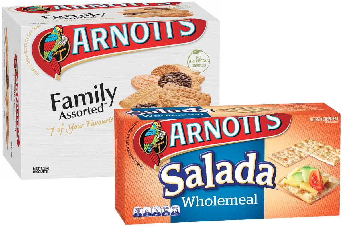 Arnotts biscuits and crackers