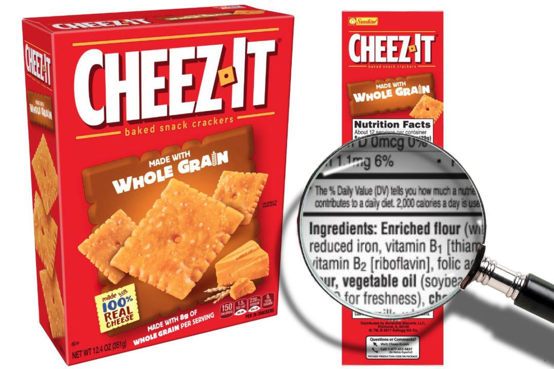 Cheez-It whole grains claim