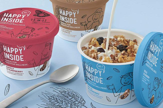 Kellogg Hi! Happy Inside cereal cups