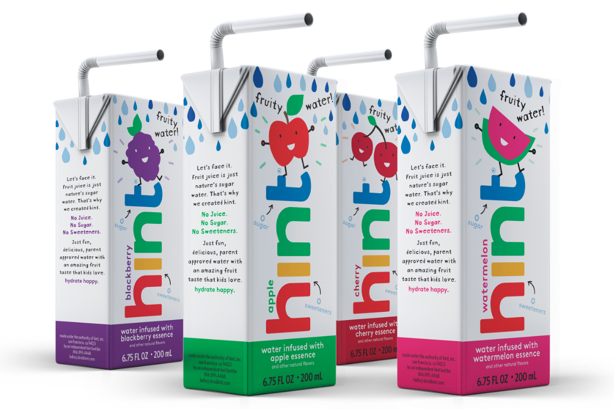 Hint Kids flavored water