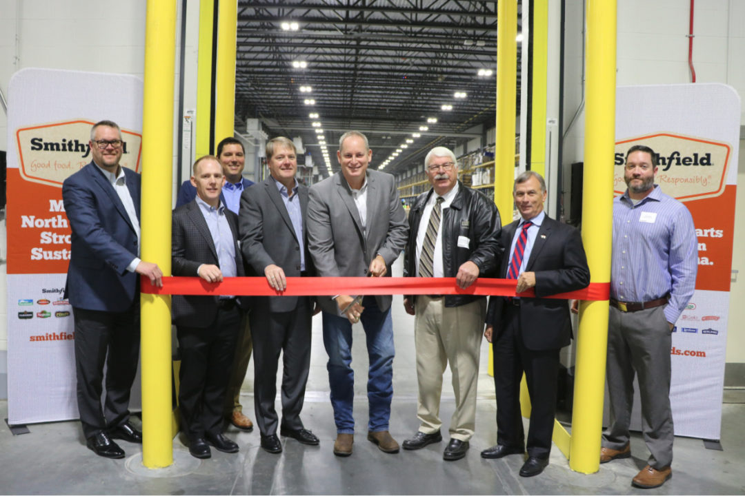 Smithfield Tar Heel, N.C., distribution center ribbon cutting ceremony