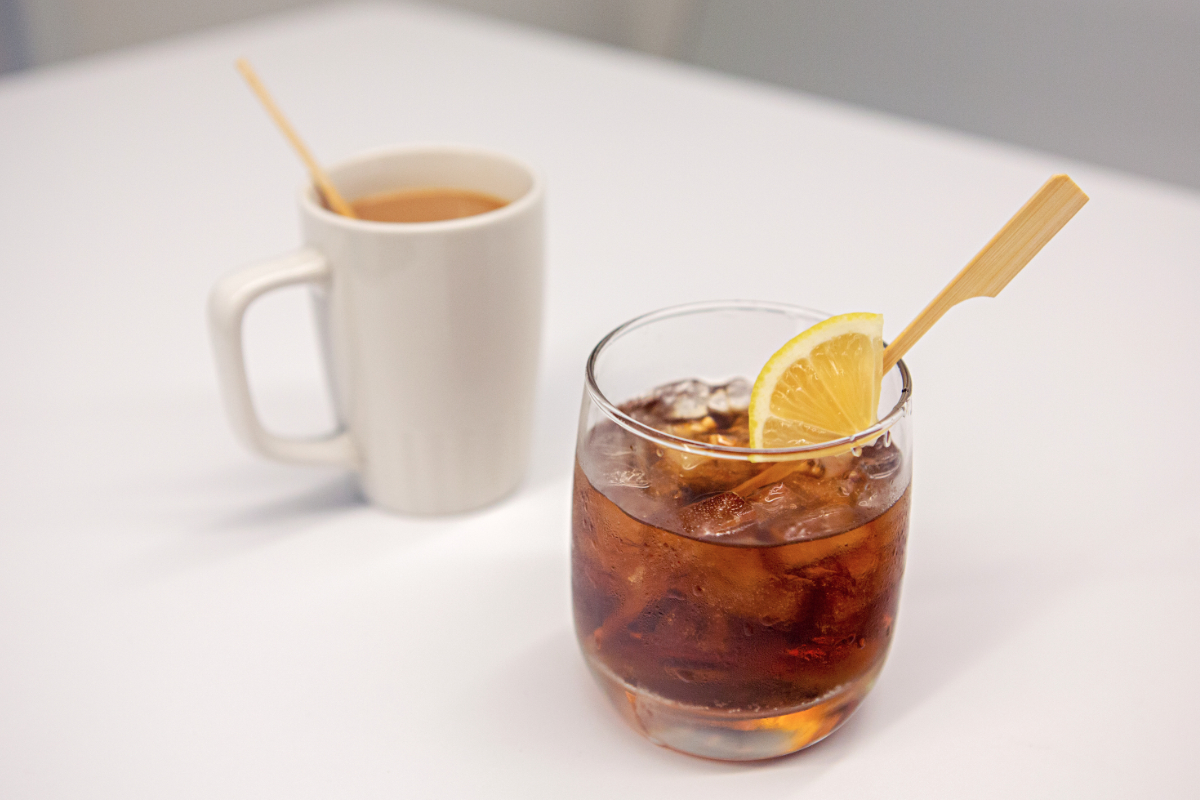 United Airlines bamboo straws and stirrers