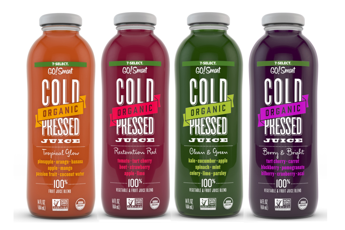 Cold Pressed Juice >> 7 Eleven Debuts Organic Cold Pressed Juices Food Business News