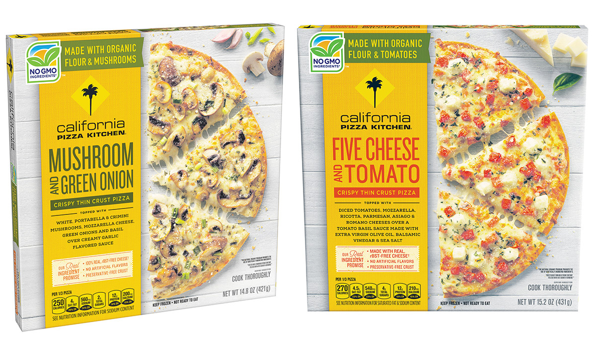California Pizza Kitchen organic frozen pizzas