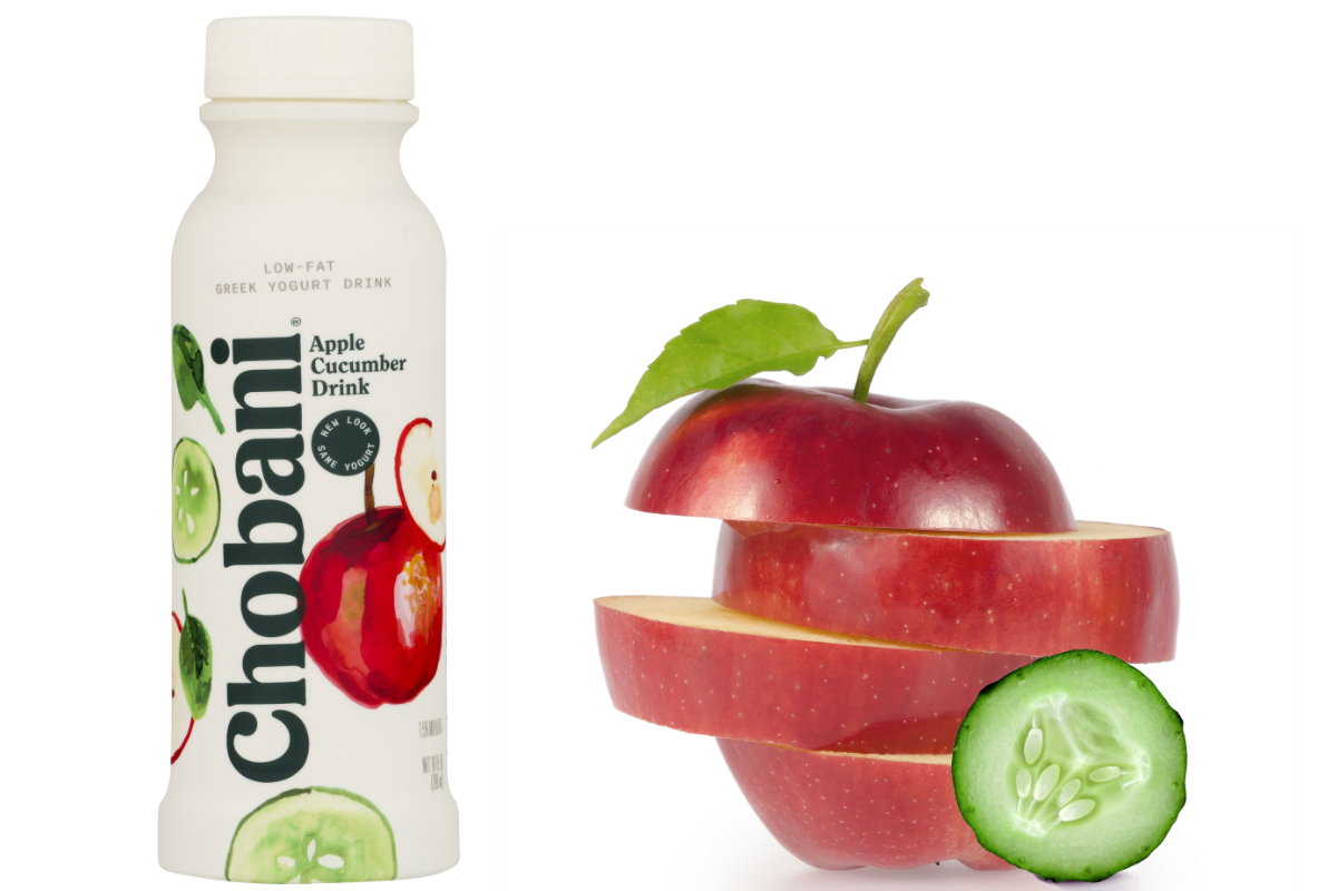 Chobani apple cucumber drink
