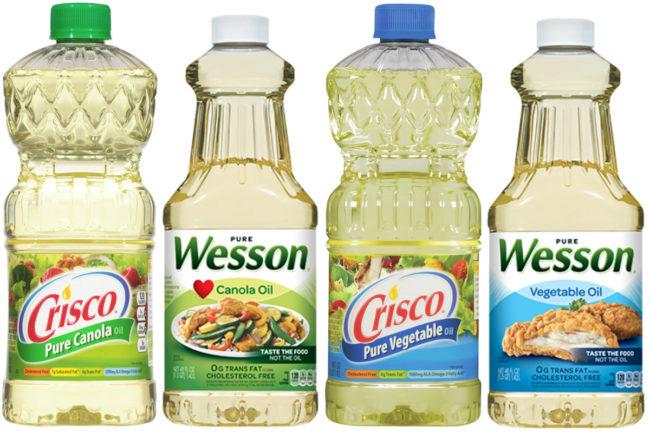 Crisco and Wesson oils