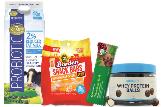 Kemps, Borden Dairy, Grass Advantage, Body & Fit products