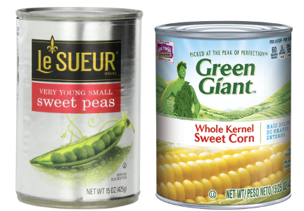 Green Giant and LeSeur canned vegetables