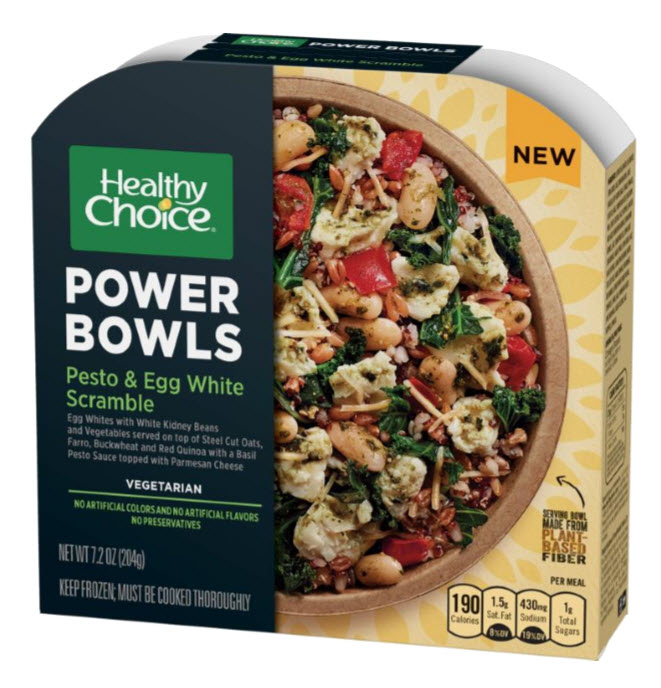 Healthy Choice Power Bowl Pesto & Egg White Scramble, Conagra Brands
