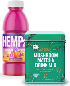 Hemp and mushroom ingredients - Hemp20 and Four Sigmatic Mushroom Matcha Drink Mix