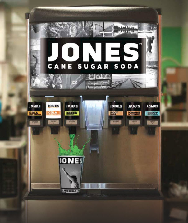 Jones Soda fountain