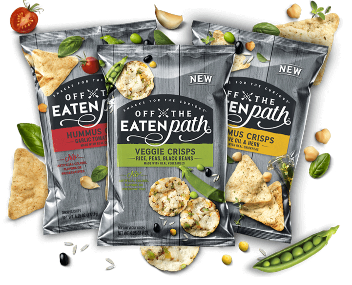 Off the Eaten Path Veggie Crisps and Hummus Crisps, PepsiCo