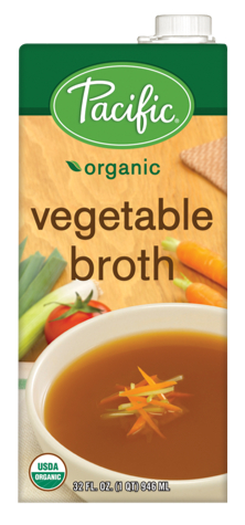 Pacific Foods organic vegetable broth, Campbell Soup