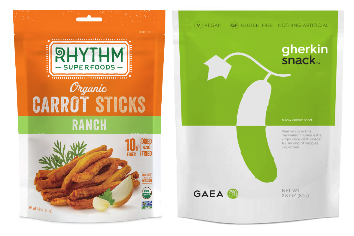 Rhythm Superfoods and Gaea vegetable snacks