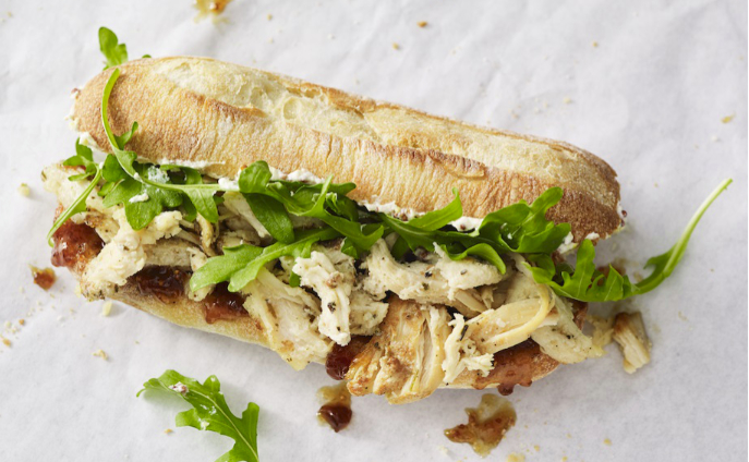 Starbucks Mercato herbed chicken and fig spread sandwich