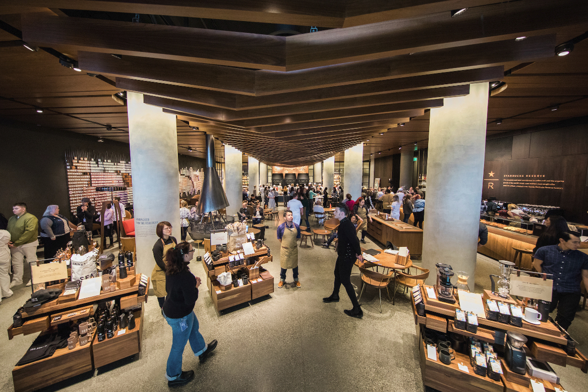 Home Trends And Design Retailers Slideshow A Peek Inside The First Starbucks Reserve Store