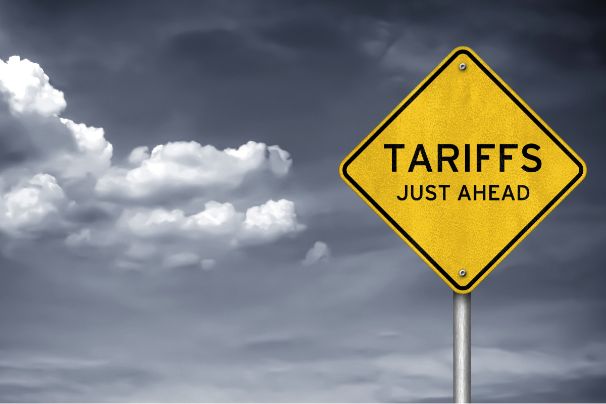 Tariffs just ahead sign