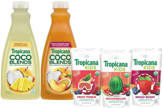 Tropicana CoCo Blends and Tropicana Kids organic beverages, PepsiCo