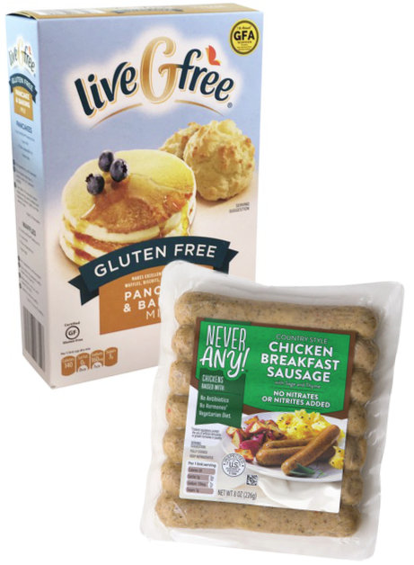 Aldi LiveGFree and Never Any! product lines