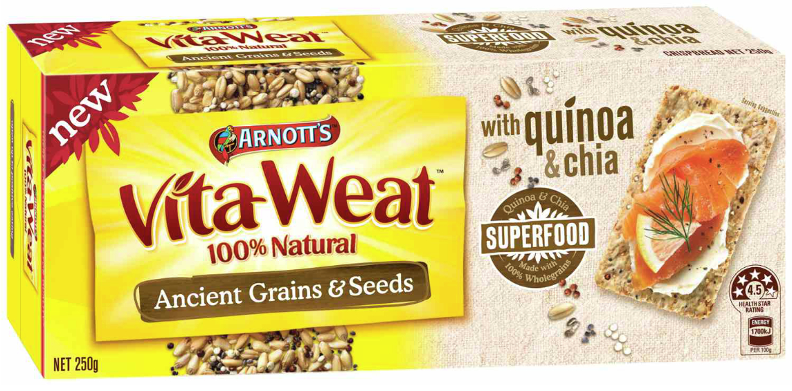 Arnott's Vita-Wheat Ancient Grains & Seeds crackers - quinoa and chia