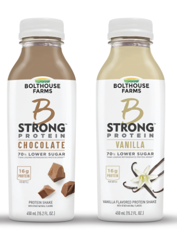 B Strong protein drinks, Bolthouse Farms
